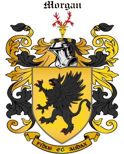 MORGAN family crest