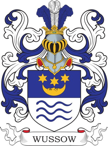 WUSSOW family crest