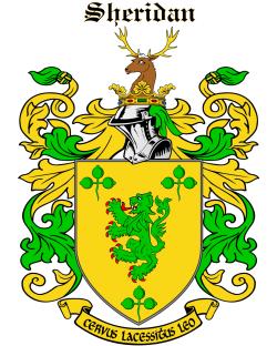 SHERIDAN family crest
